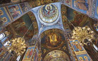 Incredible interiors in the Church of the Saviour on Spilled Blood