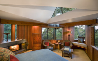 The treehouse room at Post Ranch Inn, luxury hotel in the Big Sur