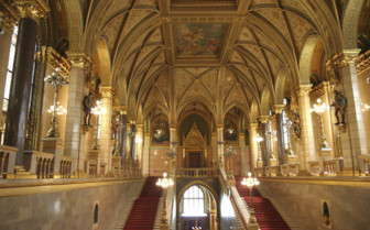 Interior of Hungarian Parliament