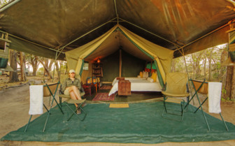 Twin tent inside and outside