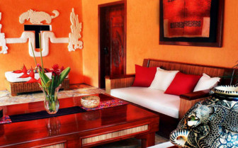 The interior design at Quinta Chanabnal, luxury hotel in Mexico