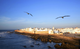 Essaouira fortress and blue skies