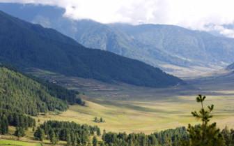 Gangtey valley view in Bhutan