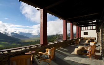 Gangtey Lodge terrace view