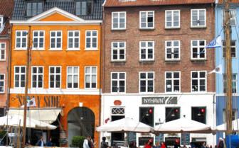 Pastel coloured buildings