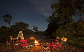 Camp fire and star gazing