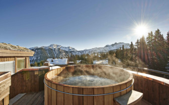 Rooftop hot tub