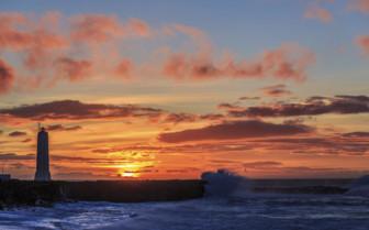 Snaefellsnes Peninsula sunset scene
