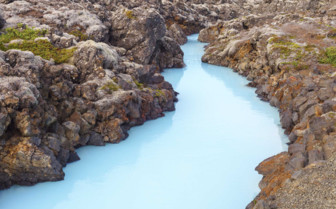 Blue river in Iceland