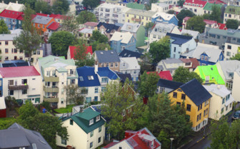 Colourful houses in Reykjavik