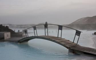 Bridge at the Blue Lagoon spa