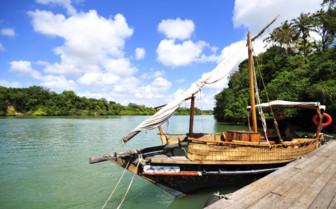 Fishing boat in Kenya