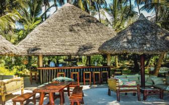 African beach huts