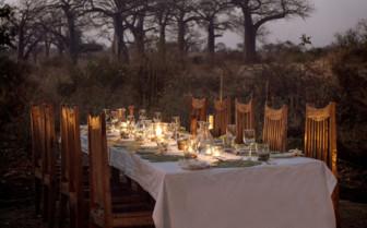 Evening dining at Kigelia Ruaha