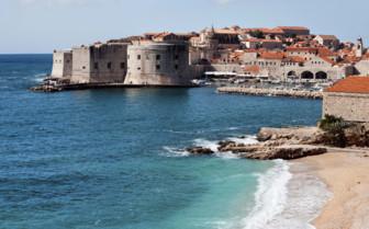 The beach in Dubrovnik