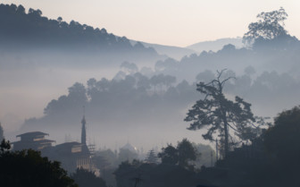Misty view of Kalaw