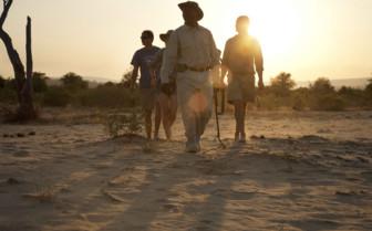 Walking safari in Selous