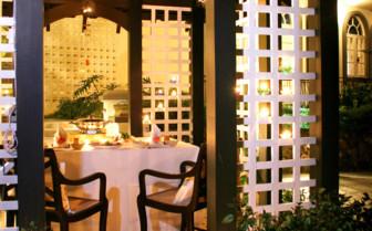 Gazebo evening dining