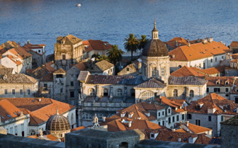 Dubrovnik city roofs