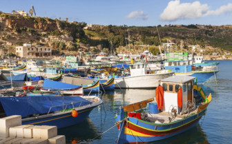 Fishing boats in Mgarr port