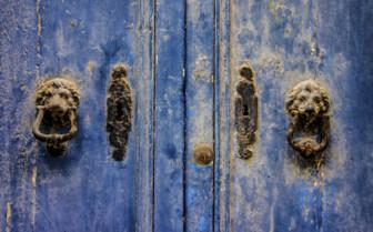 Weathered door in Gozo