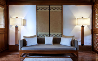 Interior sofa area