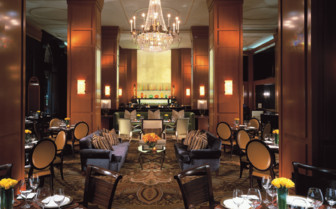 Dining at Four Seasons Beverly Wilshire, luxury hotel in Los Angeles