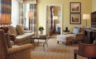 large suite at Four Seasons Beverly Wilshire, luxury hotel in Los Angeles