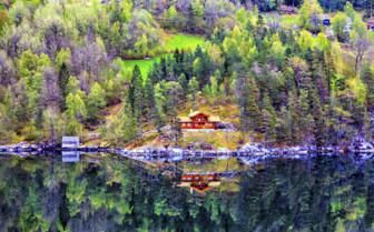 View across a lake