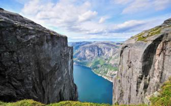View across Lysefjord, Norway