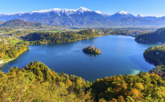 Lake Bled from Mount Osojnica