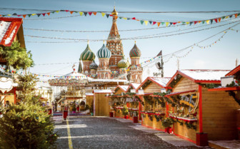 Red Square Christmas market