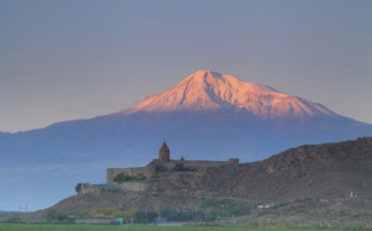 Khor Virap Church with Mount Ararat in the background