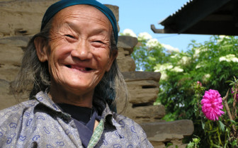 Lady from Sikkimese village