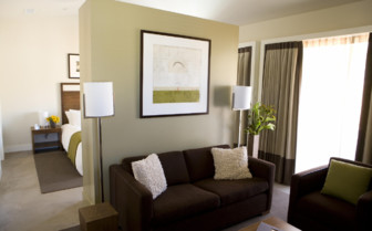Luxury suite at Solage Calistoga hotel