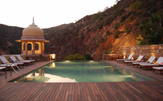 Dusk by the Pool, Rajasthan