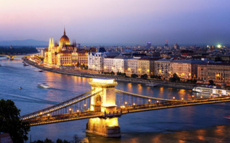 Budapest night lights