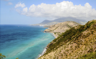 St Kitts and the narrows from Nevis