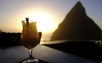 Sunset cocktail St Lucia