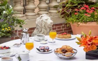 Breakfast on sanctuary suite terrace