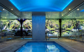 Indoor salt water lap pool