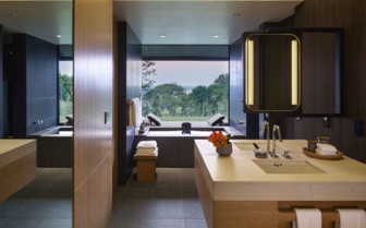 Suite bathroom and onsen