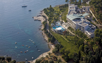 Aerial view of Monte Mulini, luxury hotel in Croatia