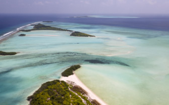 Noonu Atoll aerial view