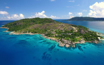 Felicite island aerial view