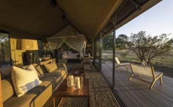 Linkwasha tent interior and decking area