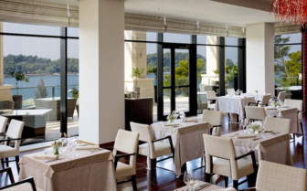 Dining at Monte Mulini, luxury hotel in Croatia