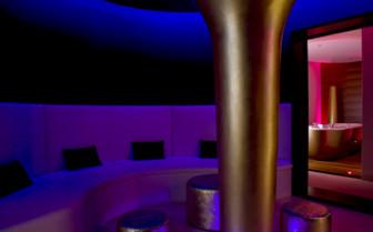 The bar lounge area at Monte Mulini, luxury hotel in Croatia