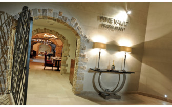 The restaurant at Monte Mulini hotel