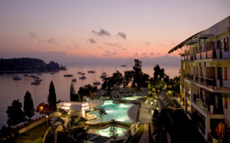 Sunset at Monte Mulini hotel